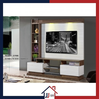 J Series 6ft TV Cabinet with LED Light
