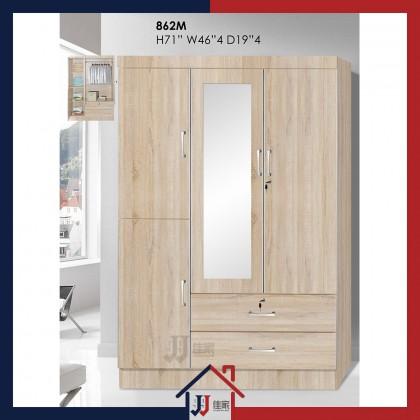 Wardrobe with 4 Doors & Drawer