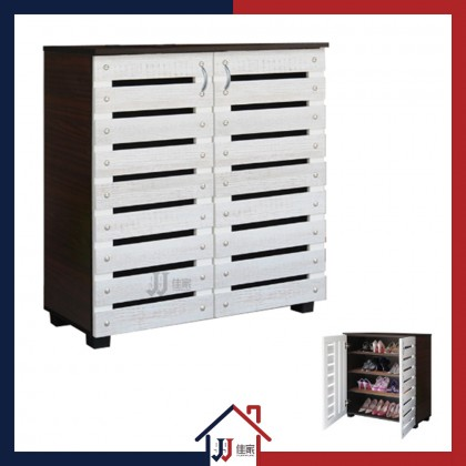 4 Compartments Shoe Cabinet with 2 Doors