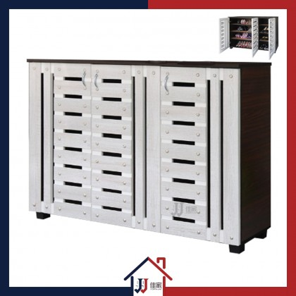 Shoe Cabinet with 4 Compartments & 3 Doors