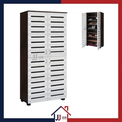 Shoe Cabinet with 8 Compartments & 4 Doors